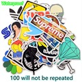 100 Pcs/Set No Repeat Stickers Personalized Cartoon Fashion Funny Graffiti Stickers Decorate DiaryNotebook Laptop  DIY Stickers