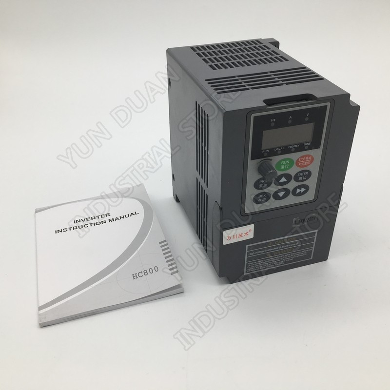 2HP 1 5KW 220V Single Phase 1PH Input 7A Vector VFD Universal Frequency Converter CE for