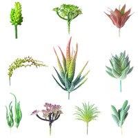 Ucuz Sıcak Satış 10 Adet/takım Sahte Kaktüs Yapay Succulents Bitkiler Noel Süsler dekorasyon Ev Için 2017 En Popüler