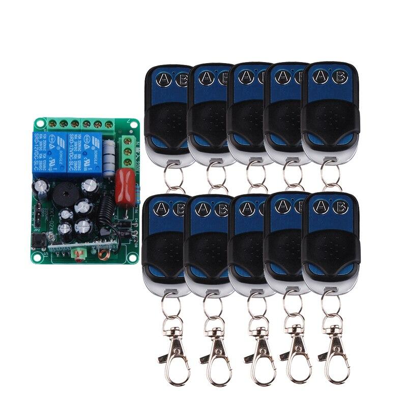 AC220V 2CH RF système de commutation à distance sans fil 220 V relais alimentation M4 T4 L4 avec émetteur 10 pièces