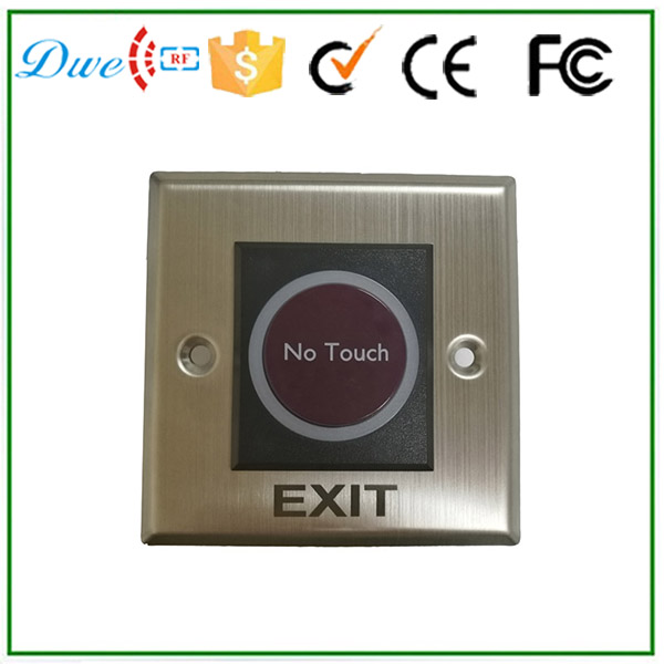 Square metal alloy infrared no touch no nc push button switch with DC 24v  [vk] mpi001 rp gn 24 switch push spst no 0 05a 24v switch