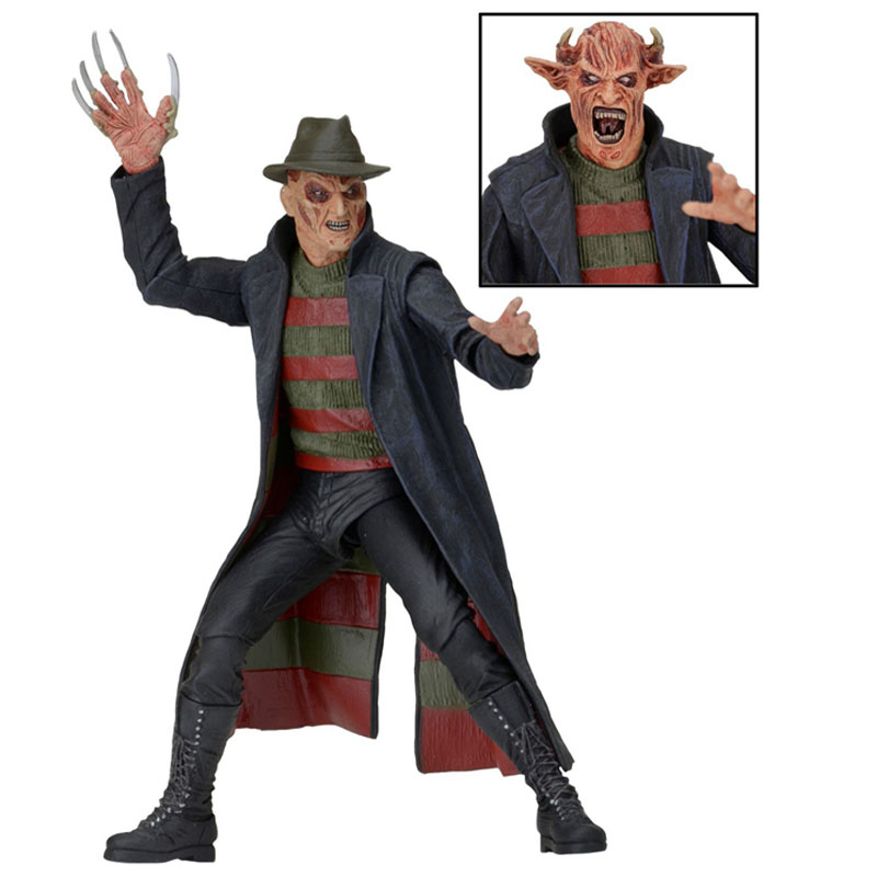 Cartoon 7 18CM New Nightmare Freddy Krueger PVC action figure doll model toy Gift a nightmare on elm street freddy pvc action figure toy anime dracula movie freddy collection juguetes halloween toy gift