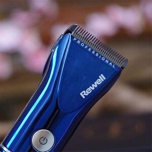 Image 4 - מקצועי חשמלי שיער קליפר טיטניום F17 נטענת שיער גוזם לגברים זקן מכונת גילוח שיער חיתוך מכונת LED תצוגה