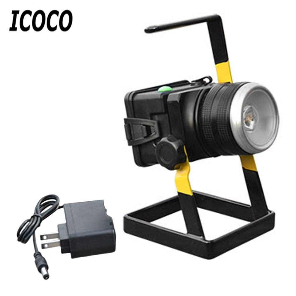 ICOCO High Quality T6LED Floodlight Rotating Zoom Lamp Rechargeable Projection Lamp With Holder for 11.11 HOT Sale