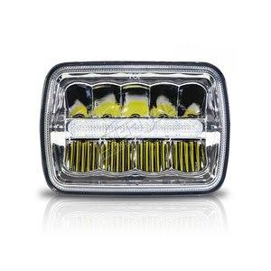 Image 2 - Envío gratis 4x6 LED faro 45W camión faro H4 led kit H4651/H4652/H4656/H4666/H654 camiones de servicio pesado remolque transporte