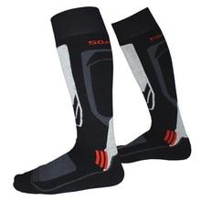 Длинные Лыжные носки, зимние, для сноуборда, спортивные, плотные теплые носки, для велоспорта, футбола, впитывающие влагу, высокие эластичные носки для женщин, мужчин, детей