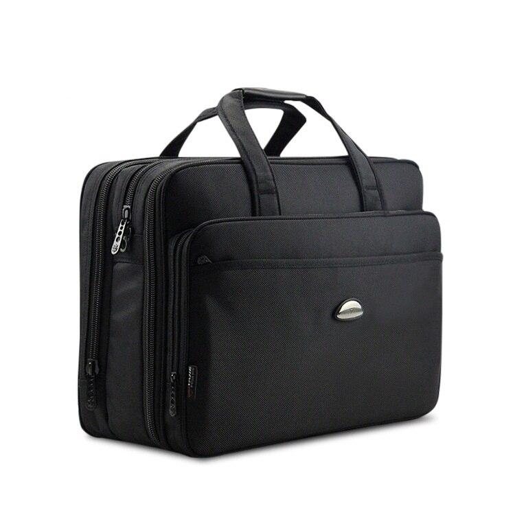 17 Zoll Computer Laptop-tasche Multilayer Dicke Nylongewebe Aktentasche Große Kapazität Business Portable Schulter Umhängetasche Db90 Fein Verarbeitet