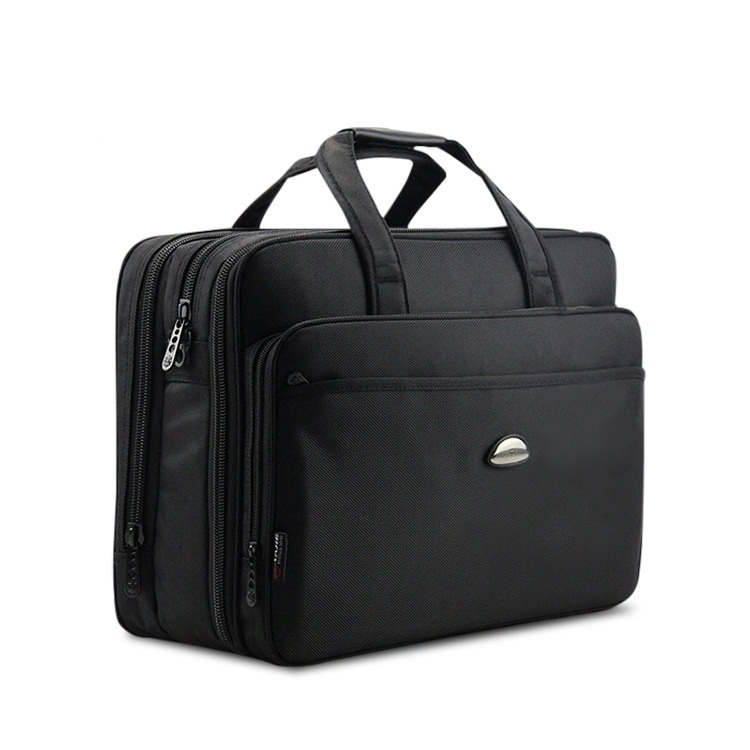 17Inch Computer Laptop Bag Multilayer Thick Nylon Cloth Briefcase Large Capacity Business Portable Shoulder Messenger Bag DB90
