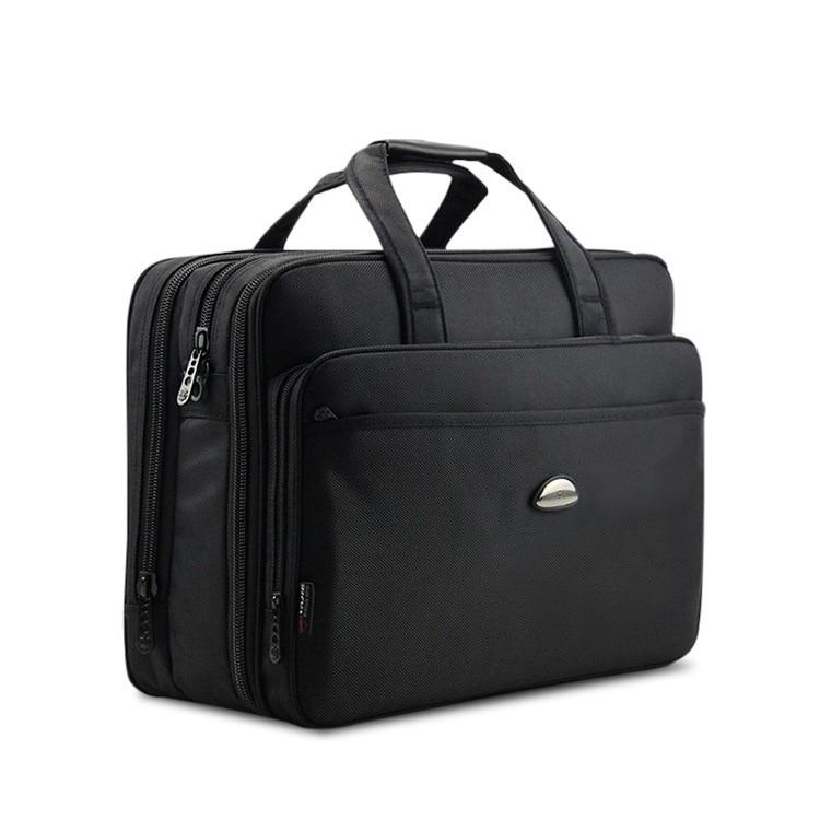 17Inch Computer Laptop Bag Multilayer Thick Nylon Cloth Briefcase Large Capacity Business Portable Shoulder Messenger Bag DB90