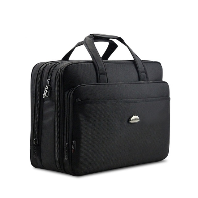 4ac39dfba 17Inch Computer Laptop Bag Multilayer Thick Nylon Cloth Briefcase Large  Capacity Business Portable Shoulder Messenger Bag DB90
