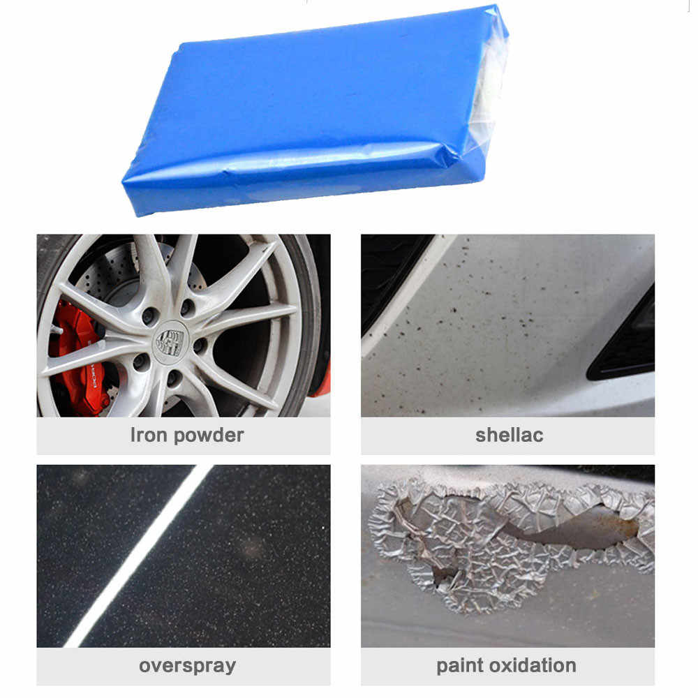 1PC Clean Clay Auto Magic Clean Clay Bar Detailing Cleaner Car Washer Blue Cleaning Mud Removed CA