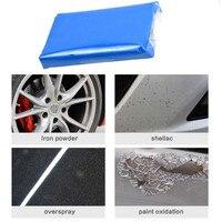 1 pc argila limpa automática magia limpa barra de argila detalhando mais limpo lavadora de carros azul limpeza lama removido ca Lama de lavagem de carro     -