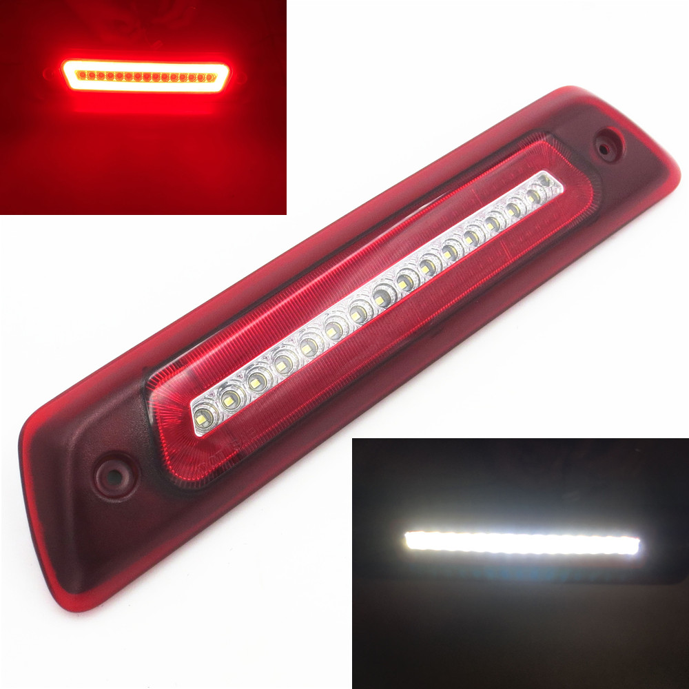 CYAN SOIL BAY For 2009 2010 2011 2012 2013 2014 2015 Ford F150 F-150 LED 3th Third Brake Light Backup Signal Lamp for f150 raptor f 150 led tail light rear lights for ford 2008 2012 year smoke black sn