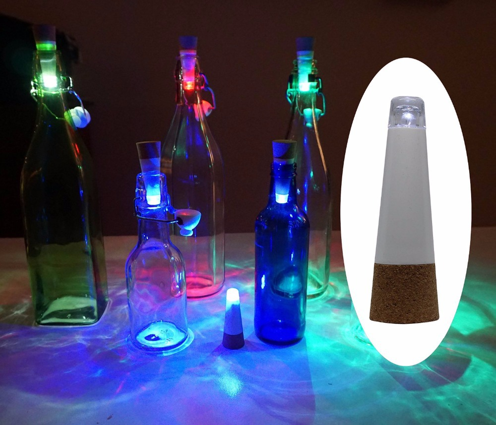 Originality Multicolor Light Cork Shaped Rechargeable USB