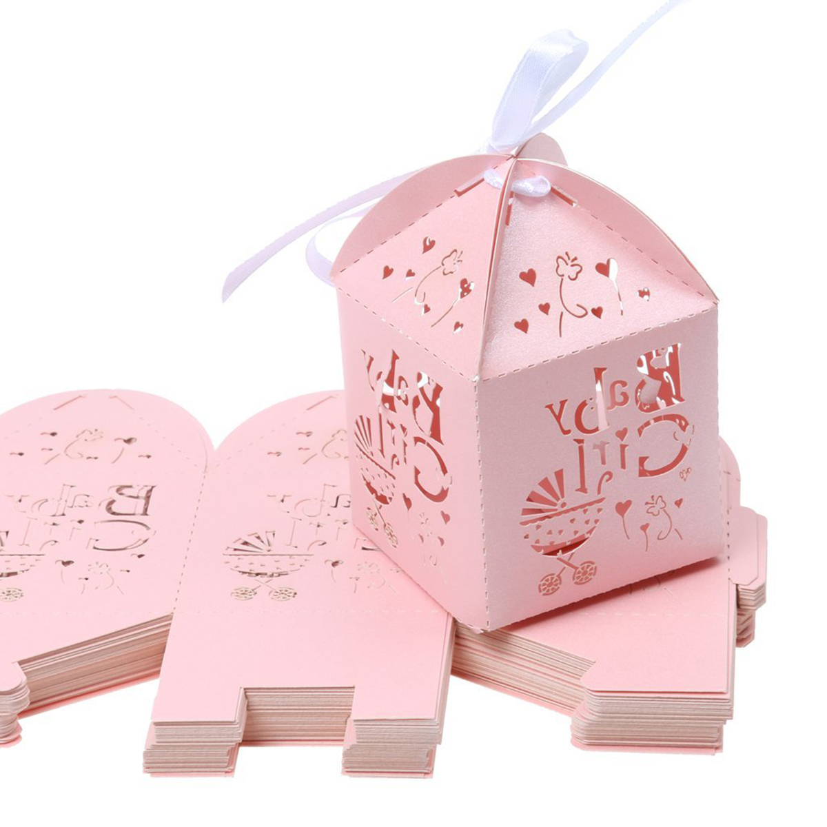50pcs Laser Cut Star Pattern Paper Candy Sweets Gift Boxes Baby ...