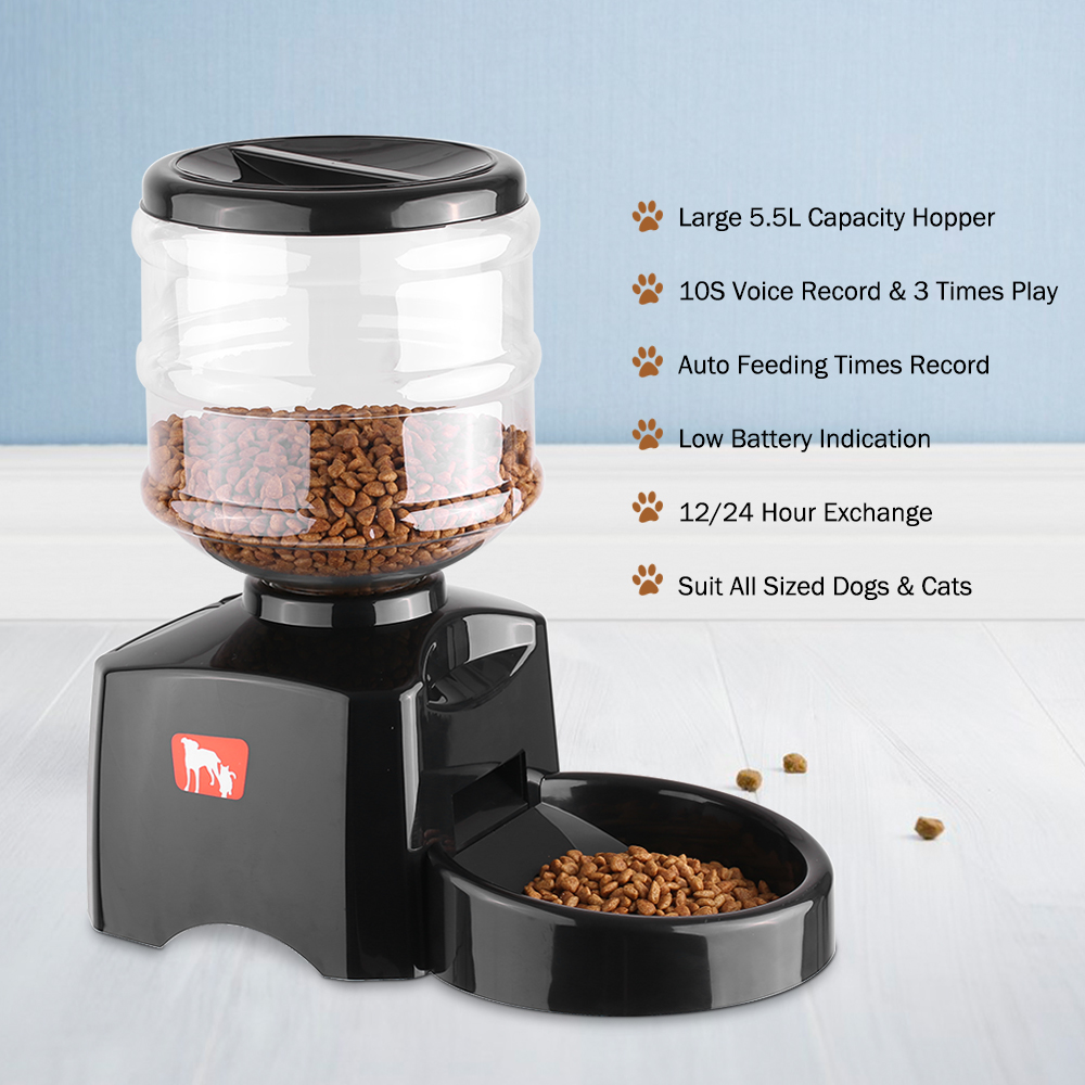 programmable 5 5l lcd display automatic pet feeder for cat dog rh aliexpress com Automatic Pet Feeders for Cats ce compass large automatic dog cat pet feeder manual