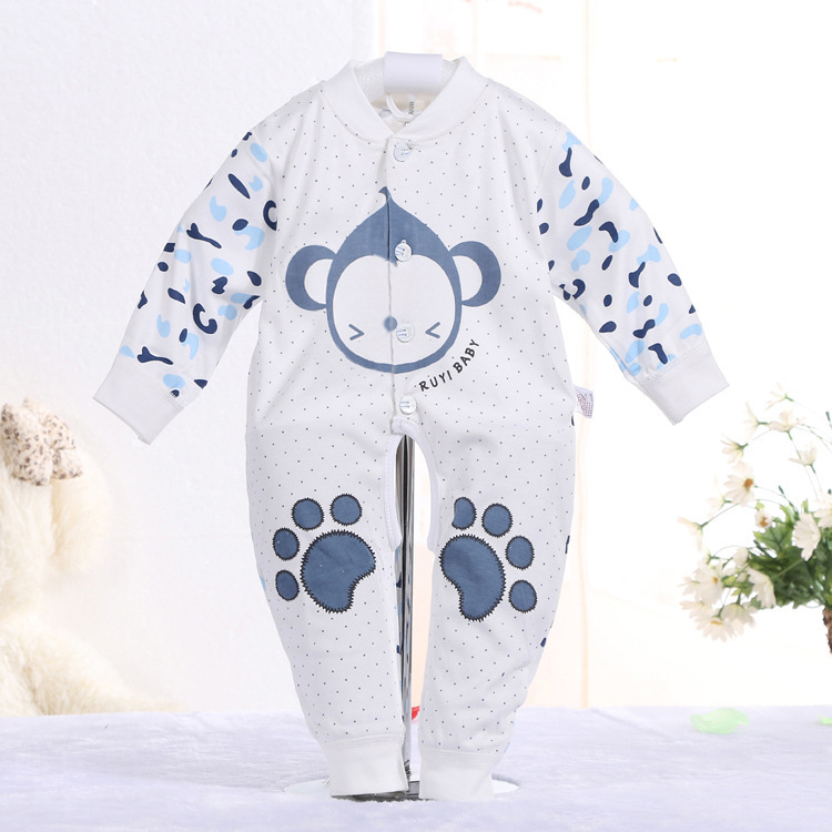 2017 new cotton newborn babies 0-18M Romper baby clothing Cartoon monkey styling clothes baby girl Rompers roupas bebes