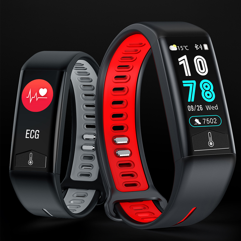 Heart Rate ECG Monitor Smart Watch Fitness Smart Bracelet IP68 Waterproof Wristband Body Temperature Smart Band Wearable Devices