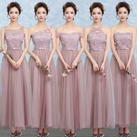 ZX A48Z One Shoulder Bridesmaid Dresses New Spring Summer 2017 Cameo Brown Bridesmaid Dresses Long Bride