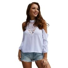 Original design 2019 spring and summer lace long-sleeve shirt women tops  shirts N30D
