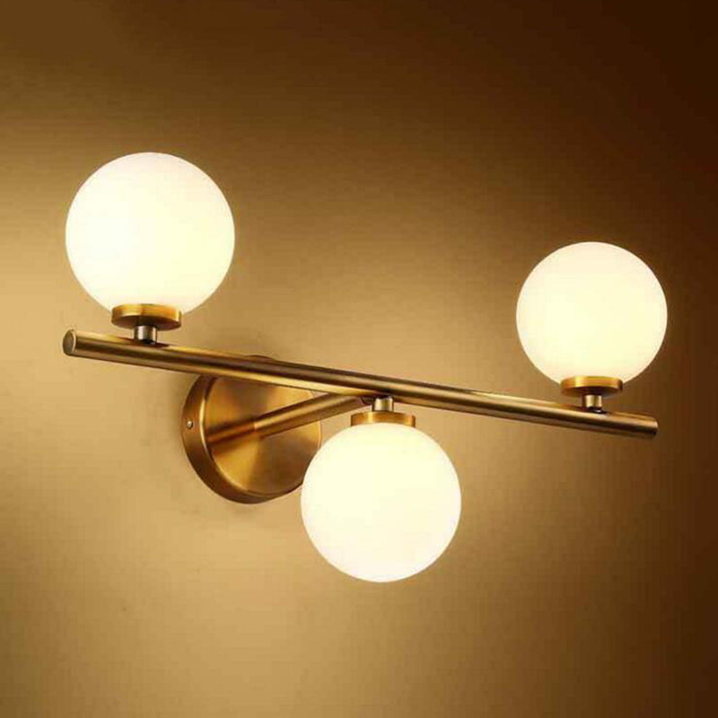 Nordic modern led glass ball wall lamp white ball magic bean lights indoor home lighting sconce for bedroom aisle living room in led indoor wall lamps from