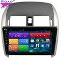 10.2 Дюймов Экран Автомобильного Радио Плеер Quad Core Android 4.4 Стерео навигация для Toyota COROLLA 2007 2008 2009 2010 2011 2012 2013