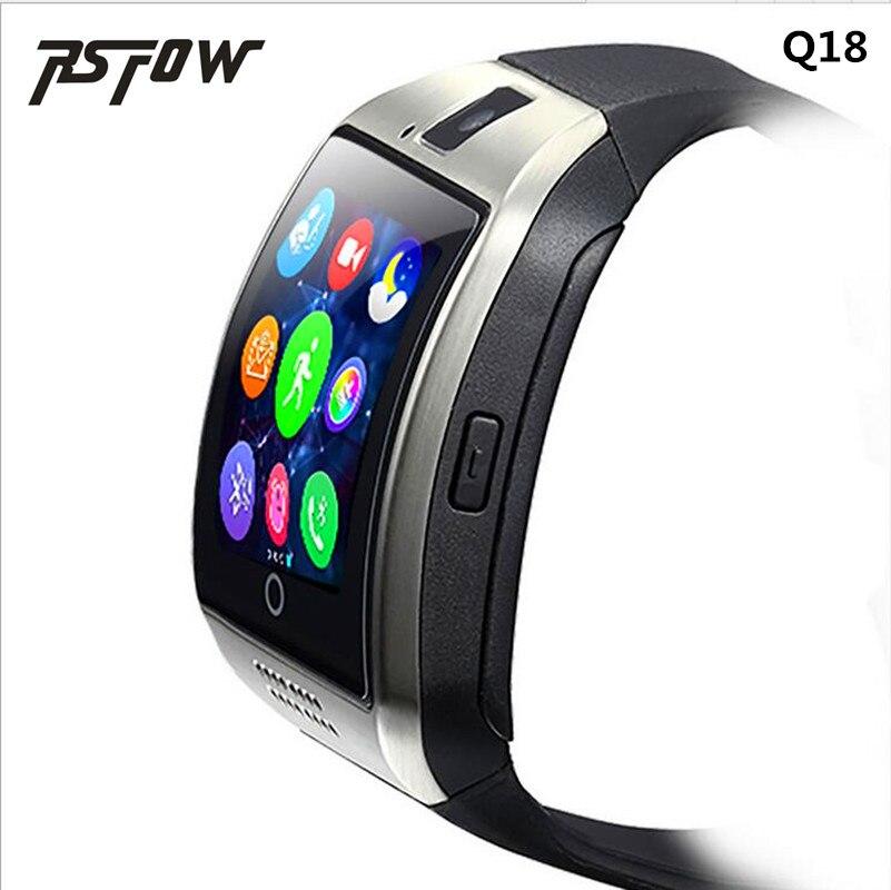 RsFow Q18 Passometer Astuto guarda con il Touch Dello Schermo della macchina fotografica di Sostegno Sim carta di TF Bluetooth smartwatch Per Android Del Telefono PK GT08 y1
