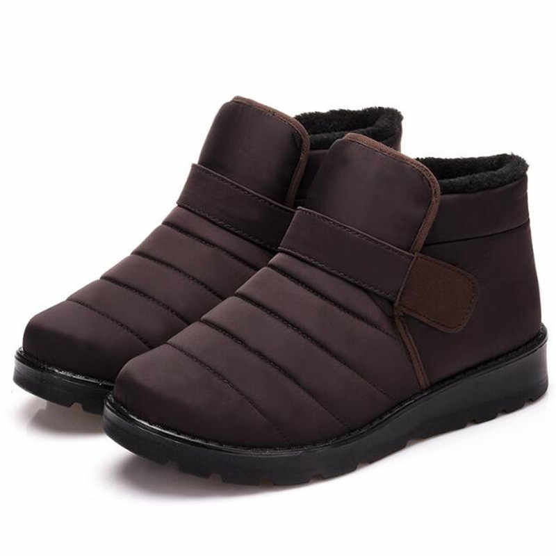 Nieuwe Mode Mannen Laarzen Hoge Kwaliteit Waterdicht Ankle Snowboots Winter Werkschoenen Super Warm Bont Mannen Schoeisel Outdoor Pluche schoenen
