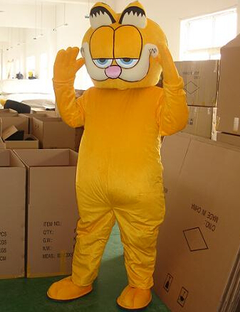 Garfield Cat Mascot Costume Cartoon Character Costumes Mascot Carnival fancy Dress Animal Theme Costumes mascotte Halloween