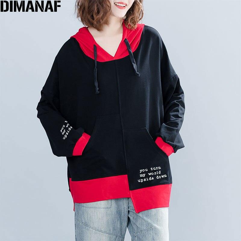 DIMANAF Plus Size Women Hoodies Sweatshirts