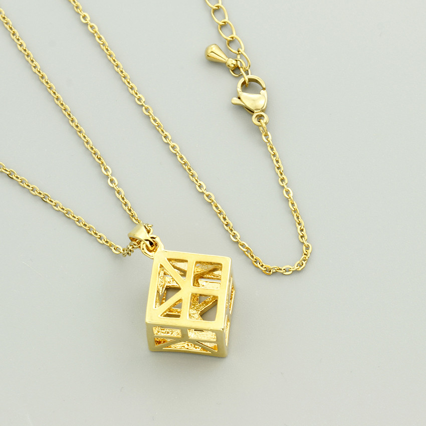 GORGEOUS TALE New Geometry Cube Pendant Necklace Unique Design Dainty jewelry Hollow Out Women Magnetic Pendant Necklace 2018GORGEOUS TALE New Geometry Cube Pendant Necklace Unique Design Dainty jewelry Hollow Out Women Magnetic Pendant Necklace 2018