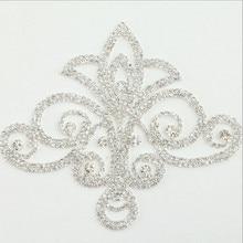 AINNY 1 шт. 11,0 * 13,0 см. Пластмассовые зеркальные стеклянные стразы Аппликация для свадебных платьев DIY Crafts Handcraft