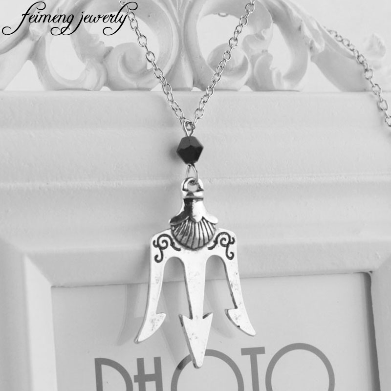 fashion olympians item women pendant jackson necklaces poseidon from necklace men sea for silver in of the percy dongsheng