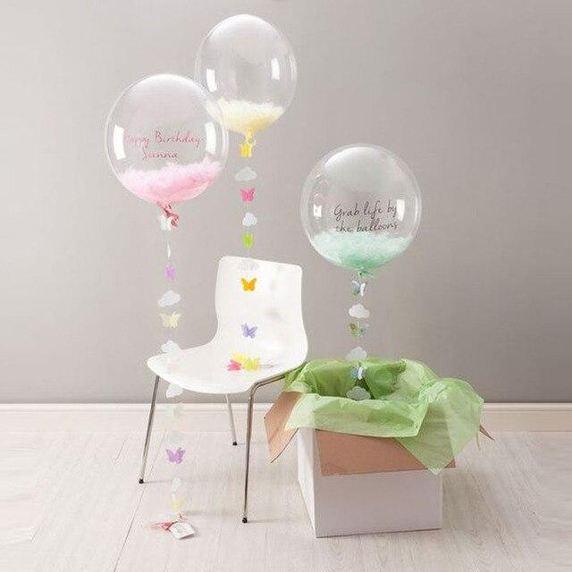 KAMMIZAD Transparent Balloon Children Birthday Party Decoration Inflatable Helium PVC Round Balloons Wedding DIY Accessories