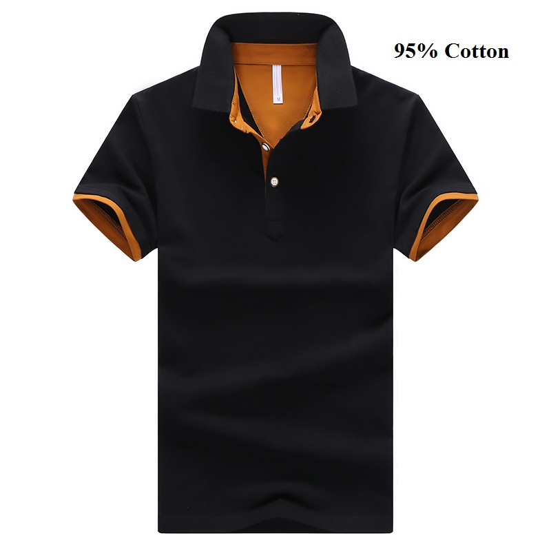 Solid Color Men's   Polo   Shirt High Quality Men's Cotton Short-Sleeved Shirt Summer Shirt Large Size M-4XL;YA200