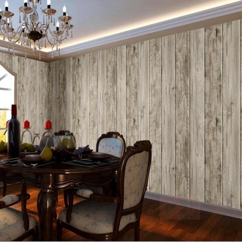 ФОТО Beibehang  wallpaper for walls 3 d Retro nostalgic imitation wood wallpaper restaurant bar background wallpaper decorative wall