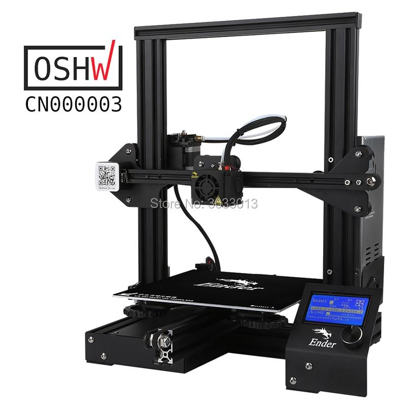 Kit DIY impressora de Grande Tamanho de impressão I3 Ender-3 3D mini Ender 3/impressora impressora Ender-3X 3D Criatividade 3D Continuação do Poder De impressão