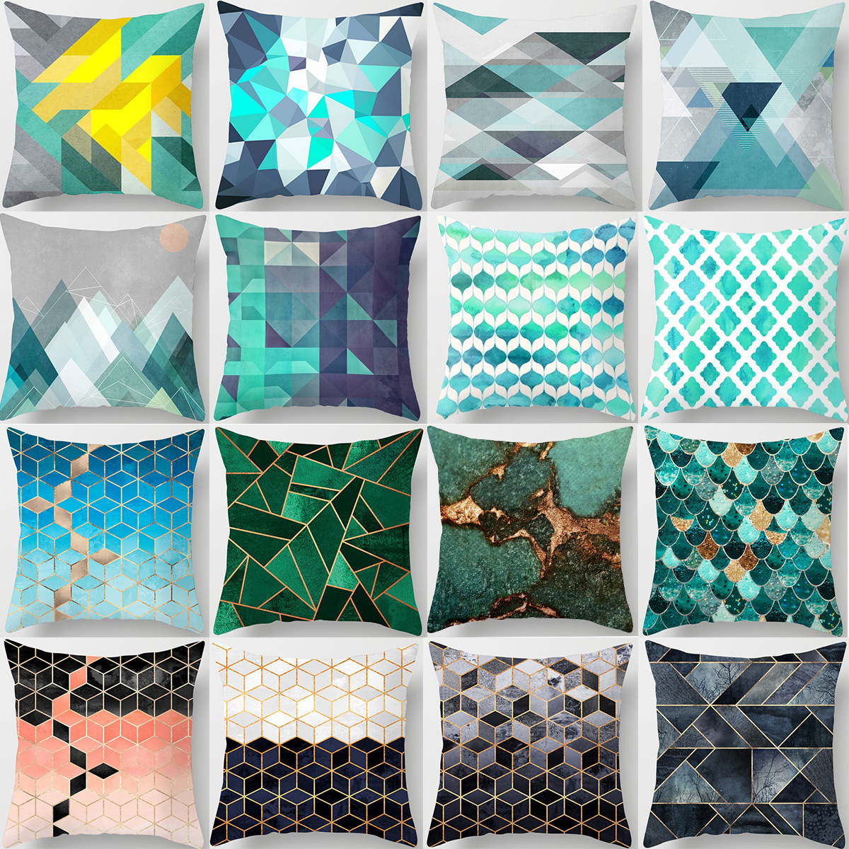 Fashion Decorative CushionsGeometric Abstract Pattern Throw Pillows Car Home Decor Cushion No Filling Decor Cojines DRD28