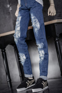 Image 4 - BJD doll clothes wear holes torn holes jeans pants 2 colors 1/3 1/4 BJD DD SD MSD YOSD Uncle doll size doll accessories