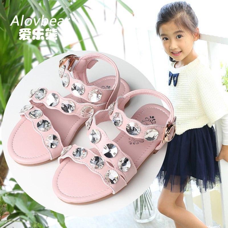 Alovbear childrens shoes new 2017 summer childrens sandals Korean childrens shoes wholesale princess shoes girls sandals L992