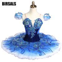 Royal Blue Bird YAGP Professional Ballet Competiton Tutu Women Clasical PancakeTutu Costume DressBT8980B