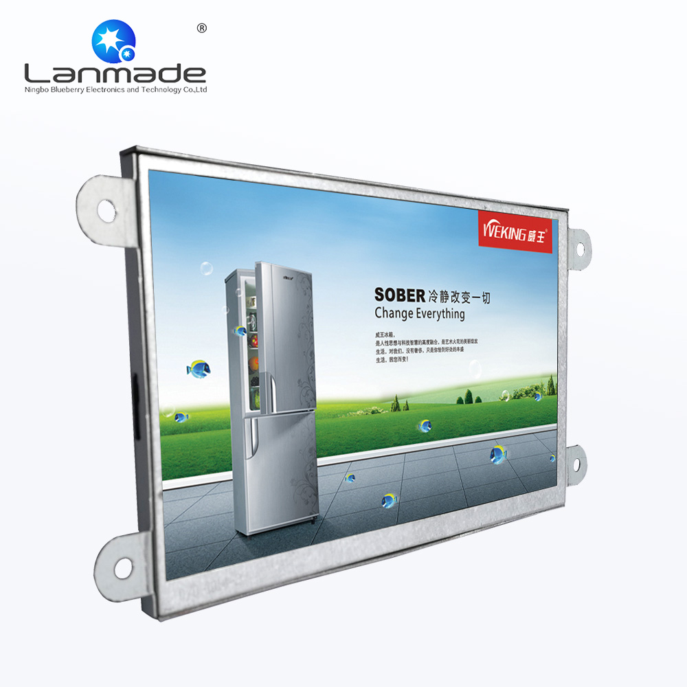 Tragbares Audio & Video Unterhaltungselektronik Zielsetzung 7 Zoll Indoor Regal Rand Open Frame Lcd Monitor Usb Video Auto Play12v Media Player Für Werbung