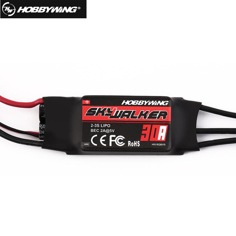 1pcs Hobbywing Skywalker 30A ESC Speed Controler With UBEC For RC FPV Quadcopter  RC Airplanes Helicopter 1pcs hwbec hobbywing 3a ubec 5v 6v max 5a lowest rf noise be for rc models