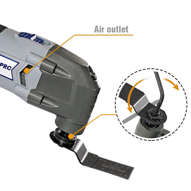 Image 5 - WORKPRO Oscillating Tool 220V Electric Trimmer Saw for Wood Working 300W Power Home DIY Wood Trimmer  Multi Tool-in Oscillating Multi-Tools from Tools on
