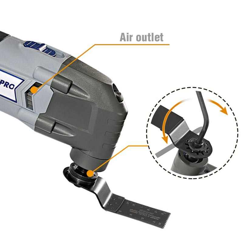 Workpro Oscillerende Tool 220V Elektrische Trimmer Zaag Voor Hout Werken 300W Power Thuis Diy Hout Trimmer Multi Tool