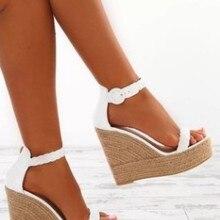 Women Platform Wedge Zip Summer Sandals Shoes Ladies Buckle