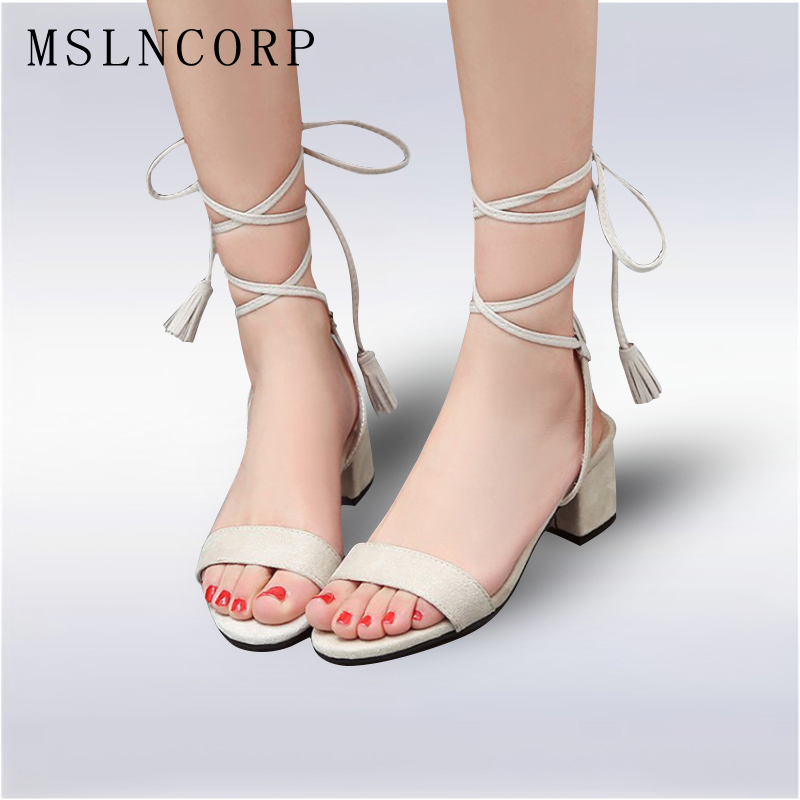Plus Size New 34-43 New Open toe ankle cross strap rope lace up women gladiator sandal boots summer high heels lady pumps shoes red brown tassel women sandal stilettos shoes women sandal open toe made to order plus size 14 stilettos discount dress shoe