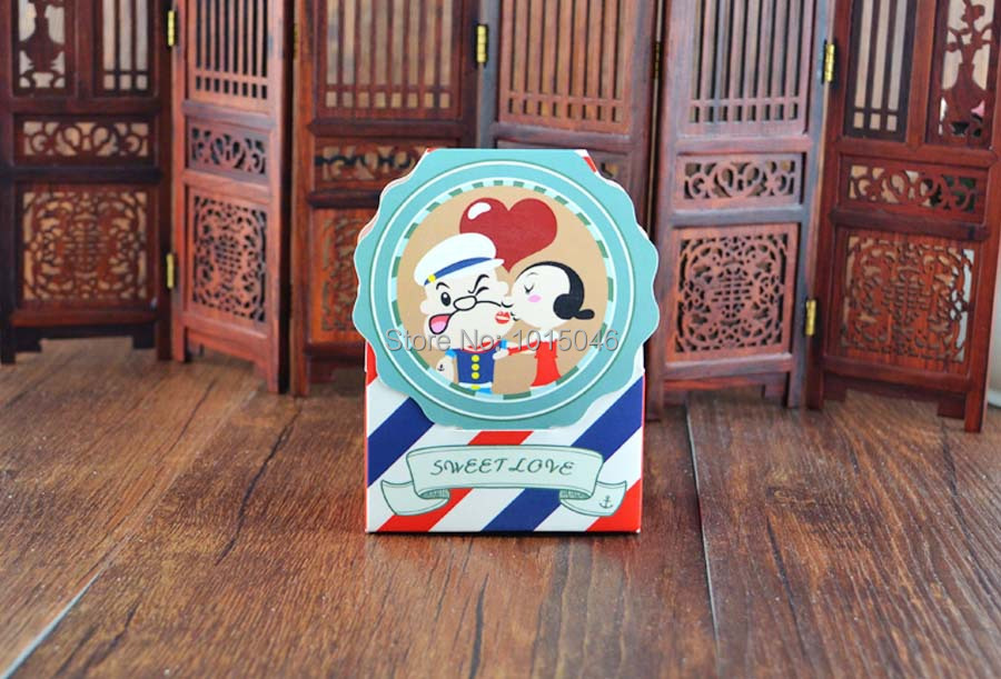 Free Shipping 20 X Creative Cartoon Popeye Candy Box Children Birthday Baby Shower Favor Candy Box Wedding Gift Bag Decoration