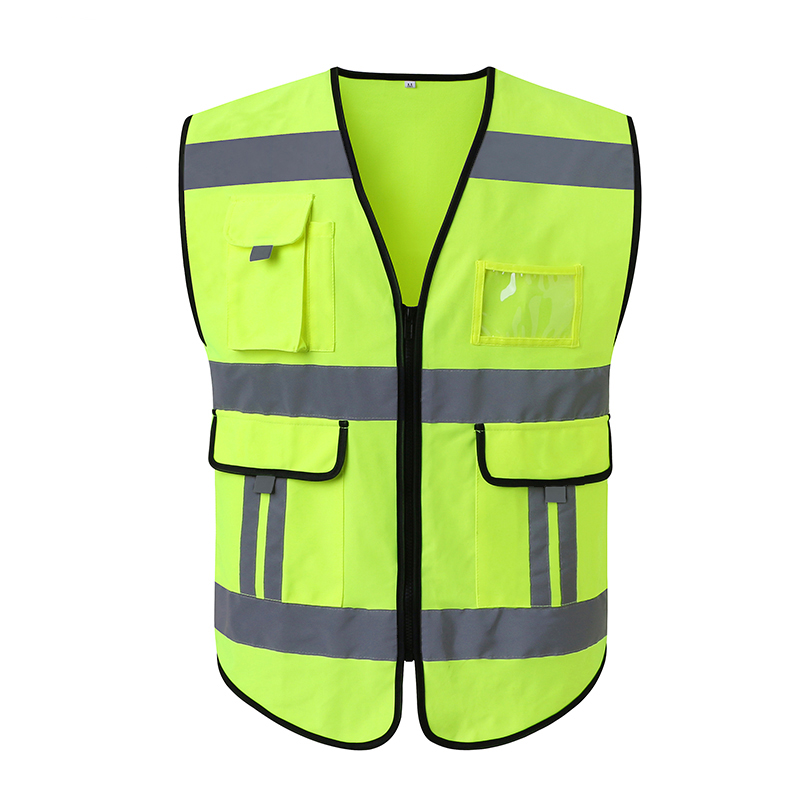 Reflective safety vest High visibility neon yellow waistcoat safety clothing workwear free shipping spardwear en471 high visibility vest reflective safety vest safety clothing workwear free shipping