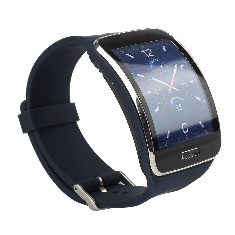 Reemplazo de bandas para Samsung Galaxy Gear S SM-R750 reloj inteligente suave TPU… clásico estilo de la banda con hebilla de Metal.